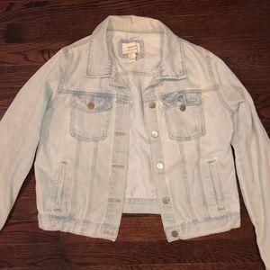 light wash forever 21 jean jacket